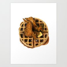 Chicken and Waffles Art Print