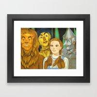 Dorothy's Crew Framed Art Print