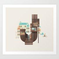 Resort Type - Letter J Art Print