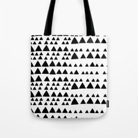 Black and White Triangle Tote Bag
