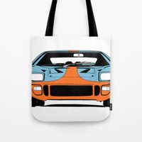 GT40 - Gulf Livery Tote Bag
