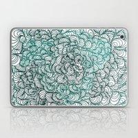 Squigg Block (Blue-Green… Laptop & iPad Skin