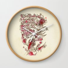 Egon Bondy's Happy Hearts Club Banned Wall Clock