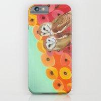 Owls in a Poppy Field iPhone 6 Slim Case