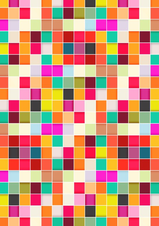 Colorful Rectangles Art Print
