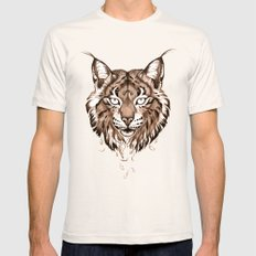 Iberian Lynx: Drifting Mens Fitted Tee Natural SMALL