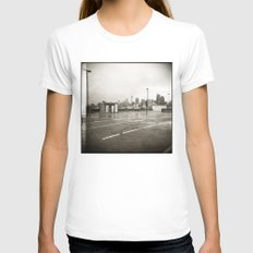 { rain dance } Womens Fitted Tee White SMALL