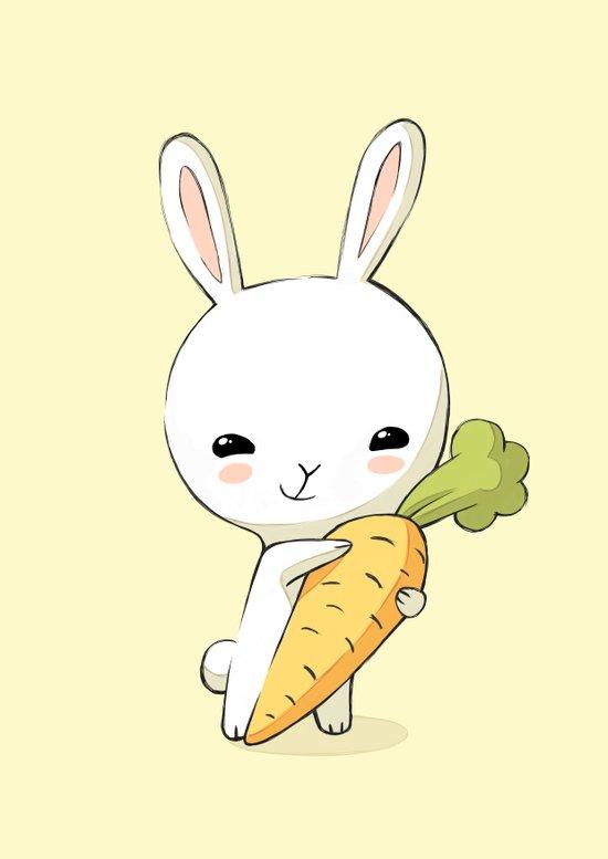 Bunny Carrot 2 Art Print