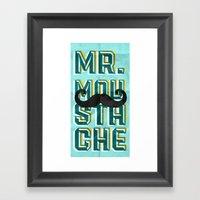 Mr Moustache Framed Art Print