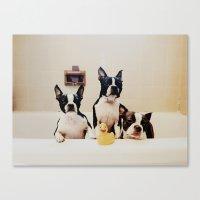 Boston Tea Tub Party Canvas Print