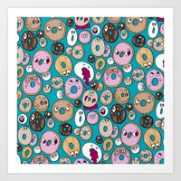 Donut Pattern Art Print