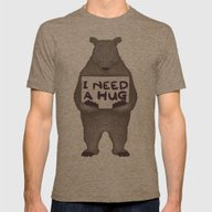 I Need A Hug Mens Fitted Tee Tri-Coffee SMALL