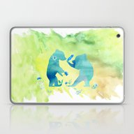 Playing Bear Kids I Laptop & iPad Skin