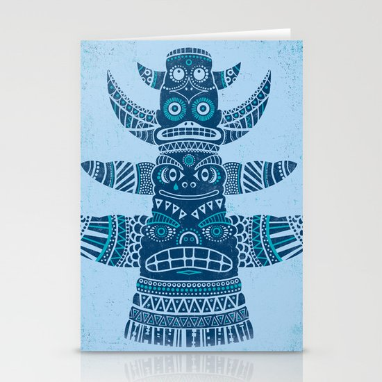 Totem tear - blue Stationery Card
