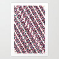 Funfetti Stripes Art Print