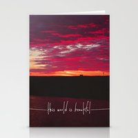 This World Is Beautiful Stationery Cards