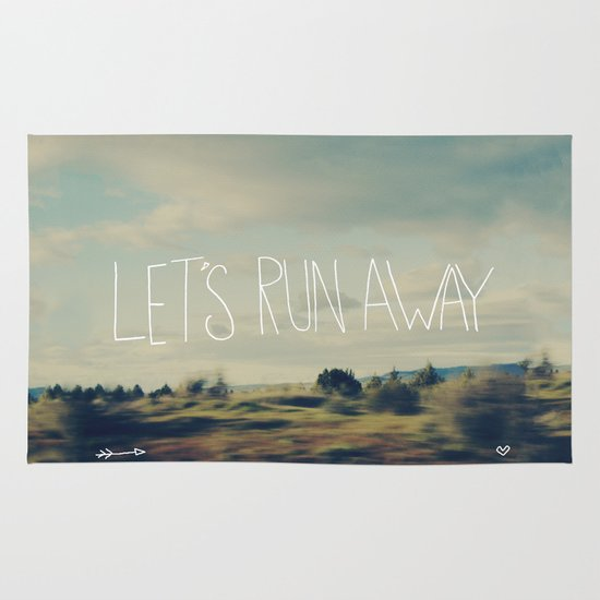 Let's Run Away Area & Throw Rug
