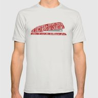 Office Space Mens Fitted Tee Silver SMALL