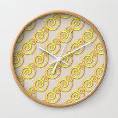 Golden swirls Wall Clock