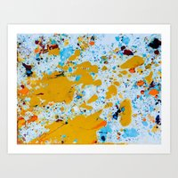 Yellow splat. Art Print