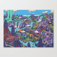 Try Not To Step On Anyth… Canvas Print