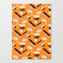 sweet things (on orange) Canvas Print