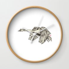 Flying Swan Wall Clock