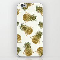 Pineapple And Triangles iPhone & iPod Skin