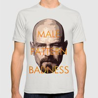 Male Pattern Badness Mens Fitted Tee Silver SMALL