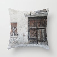 Disused Home Throw Pillow