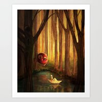 Forest Encounter Art Print
