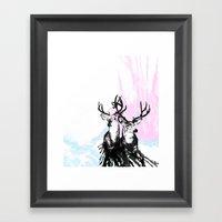 Oh, Deer Framed Art Print