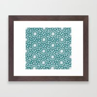 geometric vintage Framed Art Print