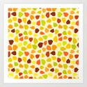 Linden tree autumn leaves Art Print