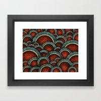 Illustrious Circles Framed Art Print