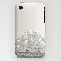 iPhone 3Gs & iPhone 3G Cases featuring The Mountains and the Woods by David Penela