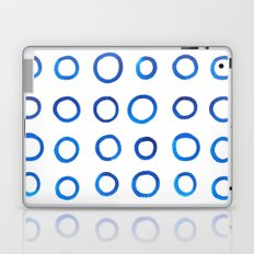 Blue Brush Circles Laptop & iPad Skin