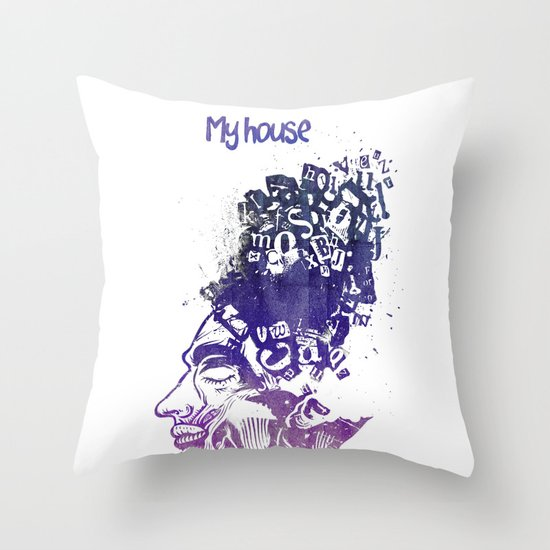 My House Throw Pillow
