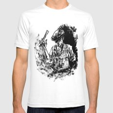 One Armed Gangster Mens Fitted Tee White SMALL