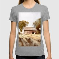 Lonely House On A Hillfa… Womens Fitted Tee Tri-Grey SMALL