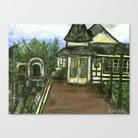 New Hope Train Station Canvas Print