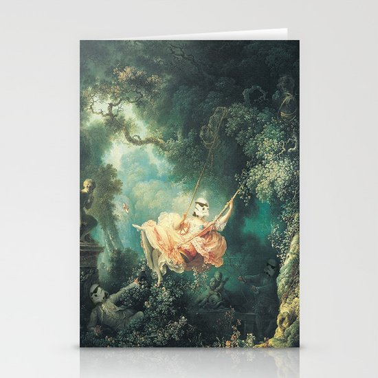 "Homage to Fragonard, ""The Swinging Stormtrooper"". Stationery Card"