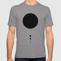 The Solar System (white) Mens Fitted Tee Athletic Grey SMALL