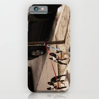 Boston Terriers ~ amped up for action! iPhone 6 Slim Case