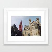 Colorful  Churches Framed Art Print