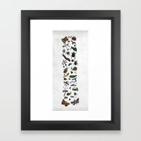 Letter I - Insects Framed Art Print