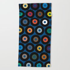 VINYL blue Beach Towel