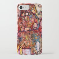 elephants iPhone & iPod Cases featuring Elephants by oxana zaika