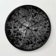 Paris Map #2 Wall Clock