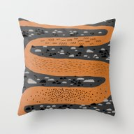 Throw Pillow featuring River by Crayon Dreamer